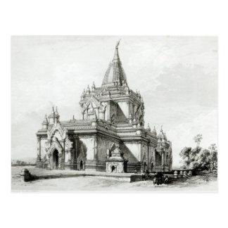 Vista del noreste del templo de Gaudapalen en el Postales