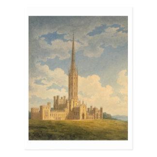 Vista del noroeste de la abadía de Fonthill (w/c Tarjetas Postales