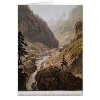 Vista del nuevo paso de Simplon, 1811 Tarjeta De Felicitación