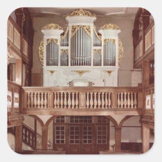Vista del órgano pegatina cuadrada