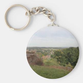 Vista del País Negro del borde de Kinver Llaveros Personalizados