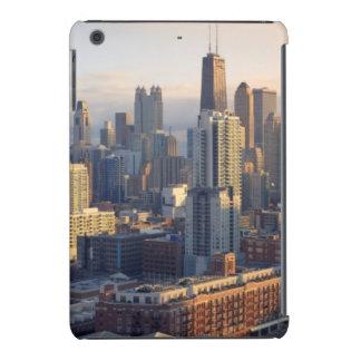 Vista del paisaje urbano con la luz fantástica funda para iPad mini