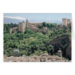 Vista del palacio de Alhambra Felicitaciones