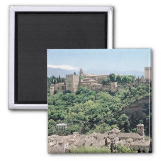 Vista del palacio de Alhambra Imán Para Frigorifico