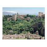 Vista del palacio de Alhambra Postal