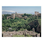 Vista del palacio de Alhambra Póster