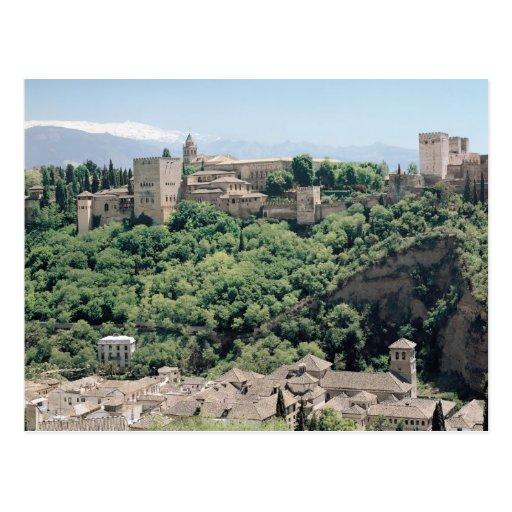 Vista del palacio de Alhambra Tarjeta Postal