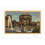 Vista del palacio de bellas arte postal