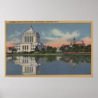 Vista del Palacio de Justicia del condado de Alame Poster