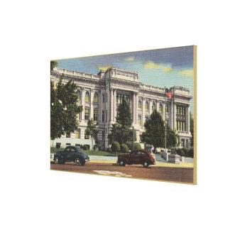 Vista del Palacio de Justicia del condado de Kern Impresiones En Lienzo Estiradas