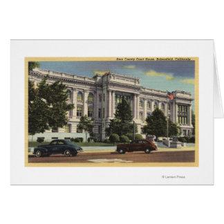 Vista del Palacio de Justicia del condado de Kern Felicitacion
