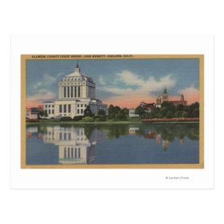Vista del Palacio de Justicia del condado de Tarjetas Postales