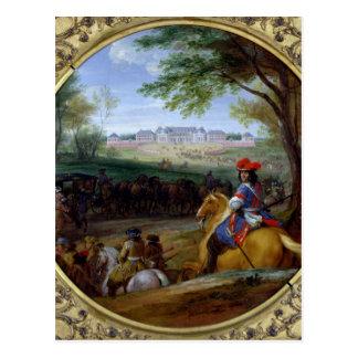 Vista del palacio de Versalles en 1669 Postal