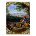 Vista del palacio de Versalles en 1669 Tarjeta De Felicitación