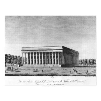 Vista del palacio imperial de la bolsa postal