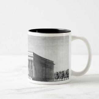 Vista del palacio imperial de la bolsa taza dos tonos