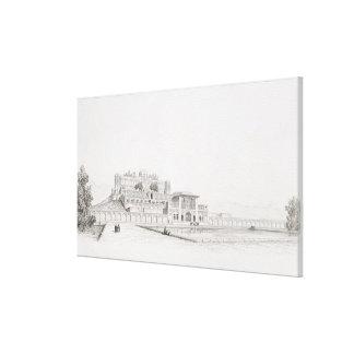 """Vista del palacio """"Kasr l Kadjar"""" de Golestan Qaja Lona Envuelta Para Galerías"""