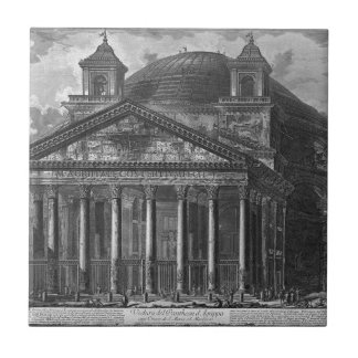 Vista del panteón de Agrippa de Juan Azulejo Cuadrado Pequeño