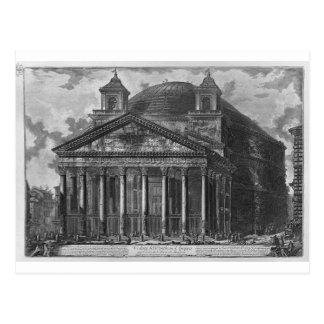 Vista del panteón de Agrippa de Juan Postales