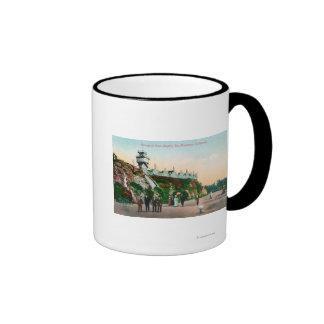 Vista del parapeto en las alturas de Sutro # 2 Tazas De Café