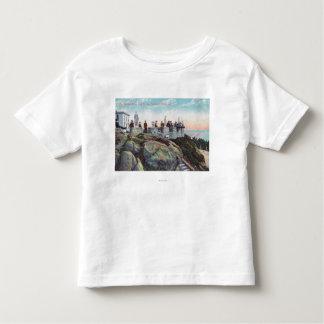 Vista del parapeto en las alturas de Sutro Camisas