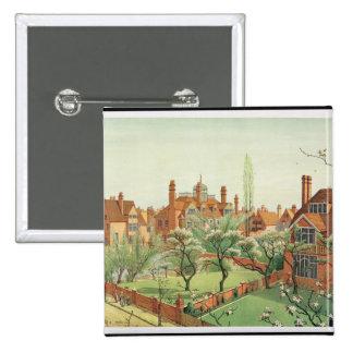 Vista del parque de Bedford, 1882 (litho del color Pin