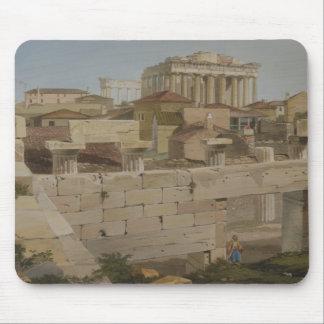 Vista del Parthenon del Propylaea, placa 7 Alfombrilla De Raton