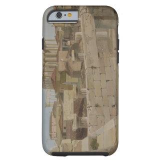 Vista del Parthenon del Propylaea, placa 7 Funda Resistente iPhone 6
