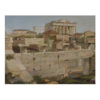 Vista del Parthenon del Propylaea, placa 7 Tarjetas Postales