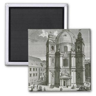 Vista del Peterskirche Imán Cuadrado