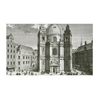 Vista del Peterskirche Impresiones En Lona Estiradas