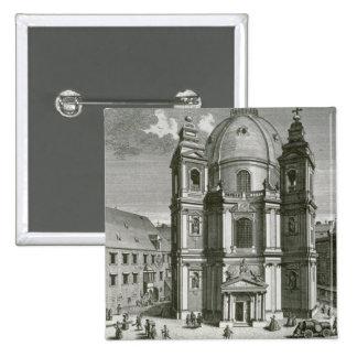 Vista del Peterskirche Pin Cuadrado