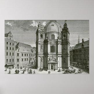 Vista del Peterskirche Póster