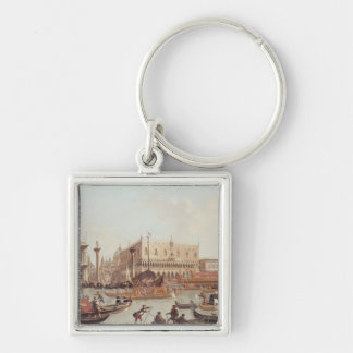 Vista del Piazzetta del dux del palacio y Llavero Personalizado