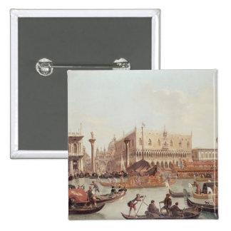 Vista del Piazzetta del dux del palacio y Pin Cuadrada 5 Cm