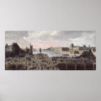 Vista del Pont-Neuf y del río el Sena Poster