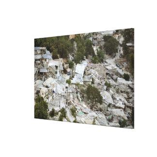 Vista del Port-au-Prince, Haití Lona Envuelta Para Galerías