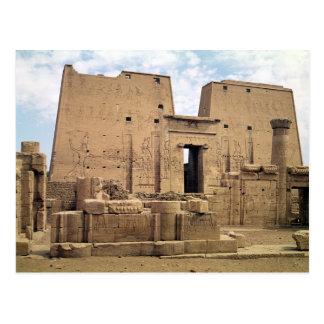 Vista del primer pilón del templo de Horus Tarjeta Postal