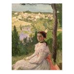 Vista del pueblo, Castelnau, 1868 Tarjeta Postal