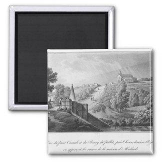 Vista del puente de Cacault y del pueblo de Imán De Frigorífico