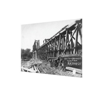 Vista del puente de Chico-Oroville Impresion En Lona