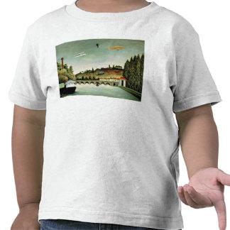 Vista del puente en Sevres Camisetas