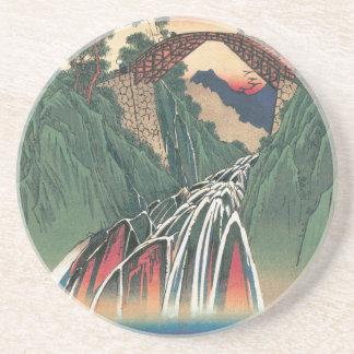 Vista del puente sobre el río de Ina, Nojiri por Posavasos Manualidades