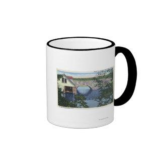 Vista del puente trasero de la bahía taza de café