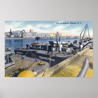 Vista del puerto de Albany SS Iroquois adentro Impresiones
