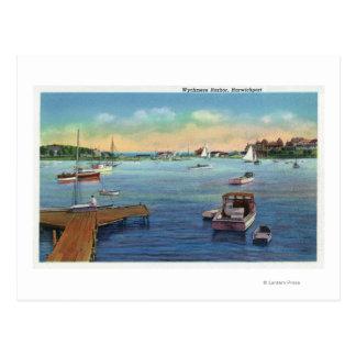 Vista del puerto de Harwichport Wychmere Tarjetas Postales