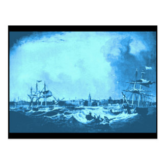 Vista del puerto de Liverpool, 1836 Tarjetas Postales