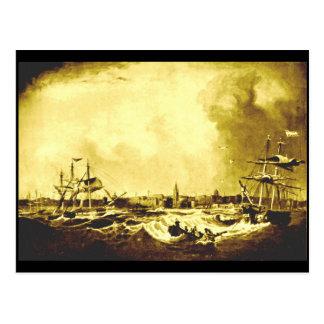 Vista del puerto de Liverpool, 1836 Tarjeta Postal