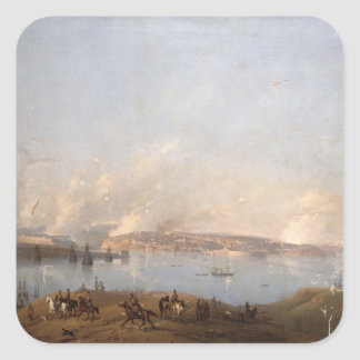 Vista del puerto de Sebastopol durante el crimen Pegatina Cuadrada