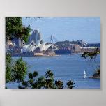 Vista del puerto de Sydney Poster